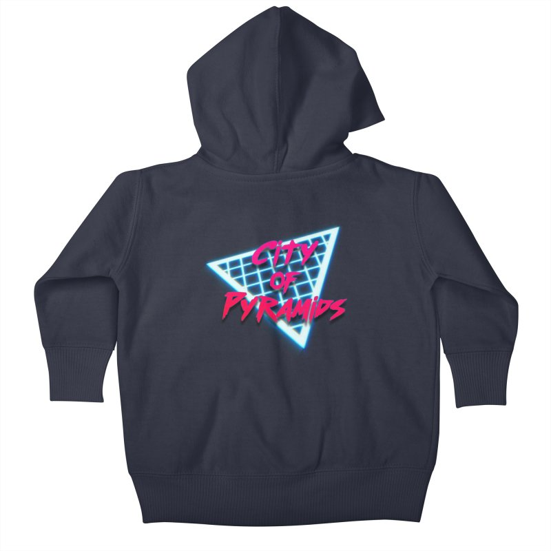 City of Pyramids - Grid Kids Baby Zip-Up Hoody by City of Pyramids's Artist Shop