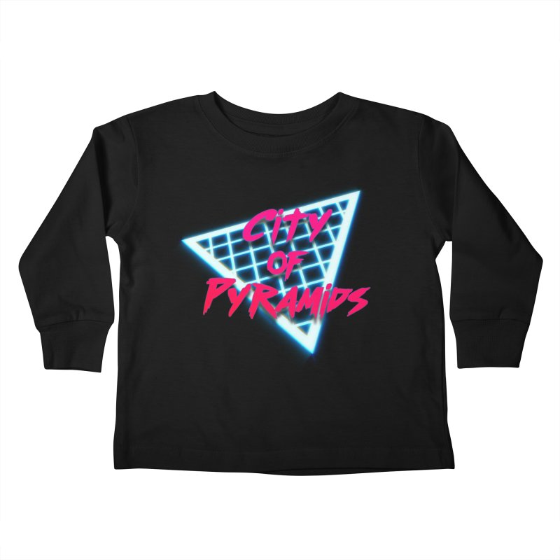 City of Pyramids - Grid Kids Toddler Longsleeve T-Shirt by City of Pyramids's Artist Shop