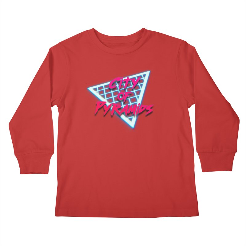 City of Pyramids - Grid Kids Longsleeve T-Shirt by City of Pyramids's Artist Shop