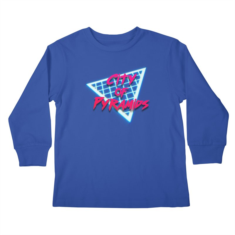 City of Pyramids - Grid Kids Longsleeve T-Shirt by City of Pyramids's Artist Shop
