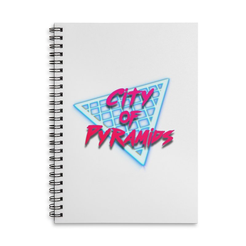 City of Pyramids - Grid Accessories Lined Spiral Notebook by City of Pyramids's Artist Shop