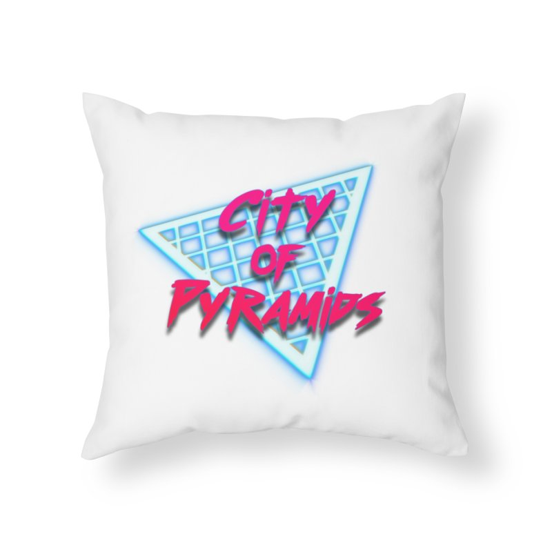City of Pyramids - Grid Home Throw Pillow by City of Pyramids's Artist Shop