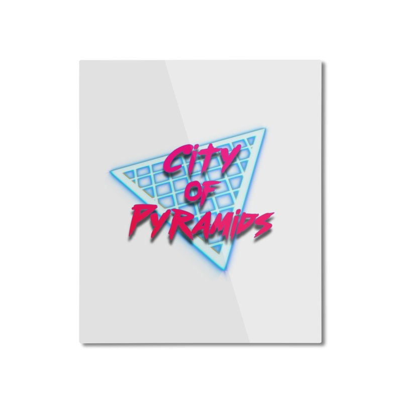 City of Pyramids - Grid Home Mounted Aluminum Print by City of Pyramids's Artist Shop