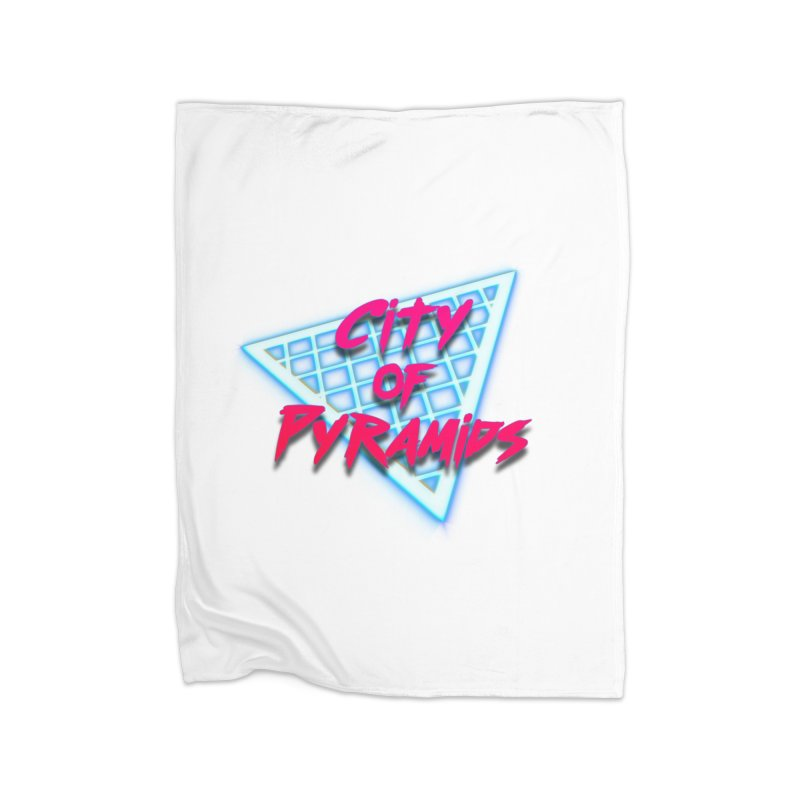 City of Pyramids - Grid Home Fleece Blanket Blanket by City of Pyramids's Artist Shop