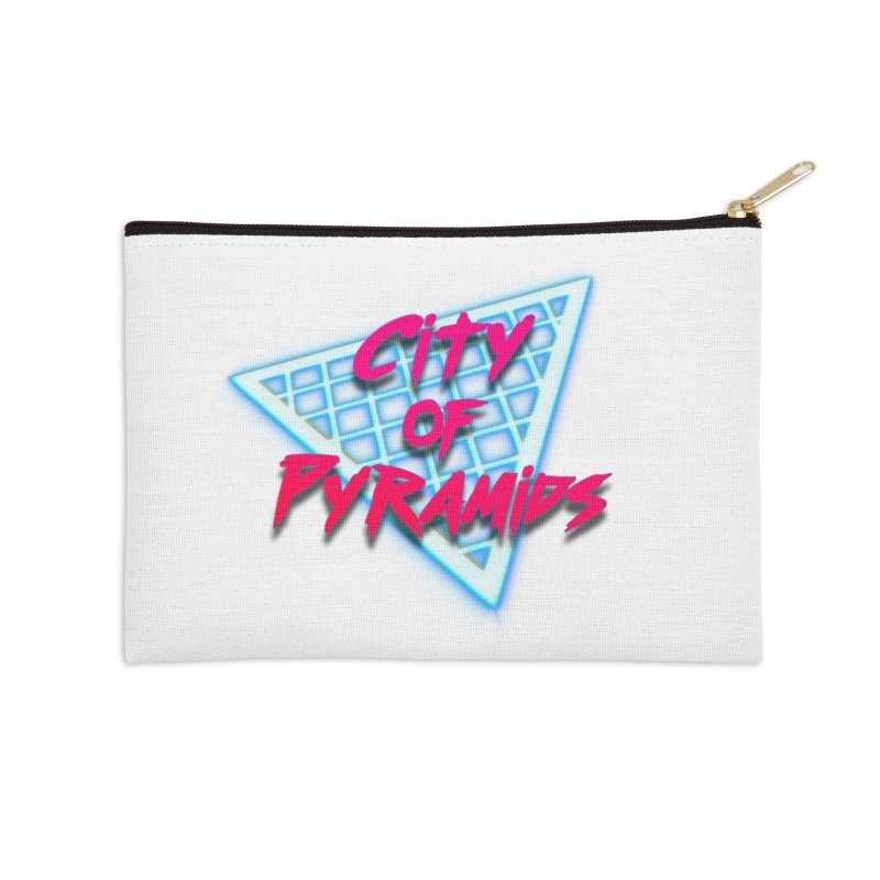City of Pyramids - Grid Accessories Zip Pouch by City of Pyramids's Artist Shop