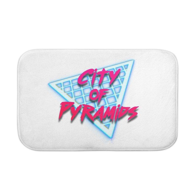 City of Pyramids - Grid Home Bath Mat by City of Pyramids's Artist Shop