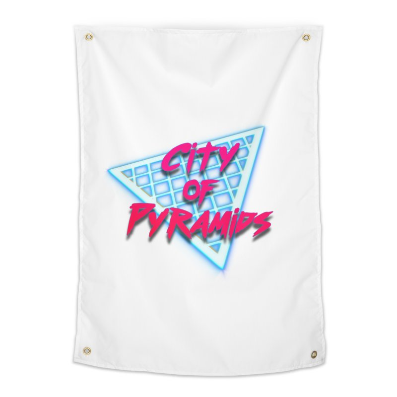 City of Pyramids - Grid Home Tapestry by City of Pyramids's Artist Shop
