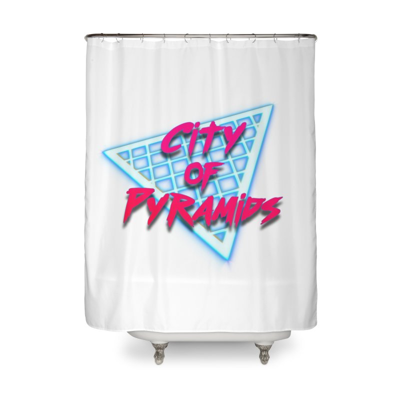 City of Pyramids - Grid Home Shower Curtain by City of Pyramids's Artist Shop