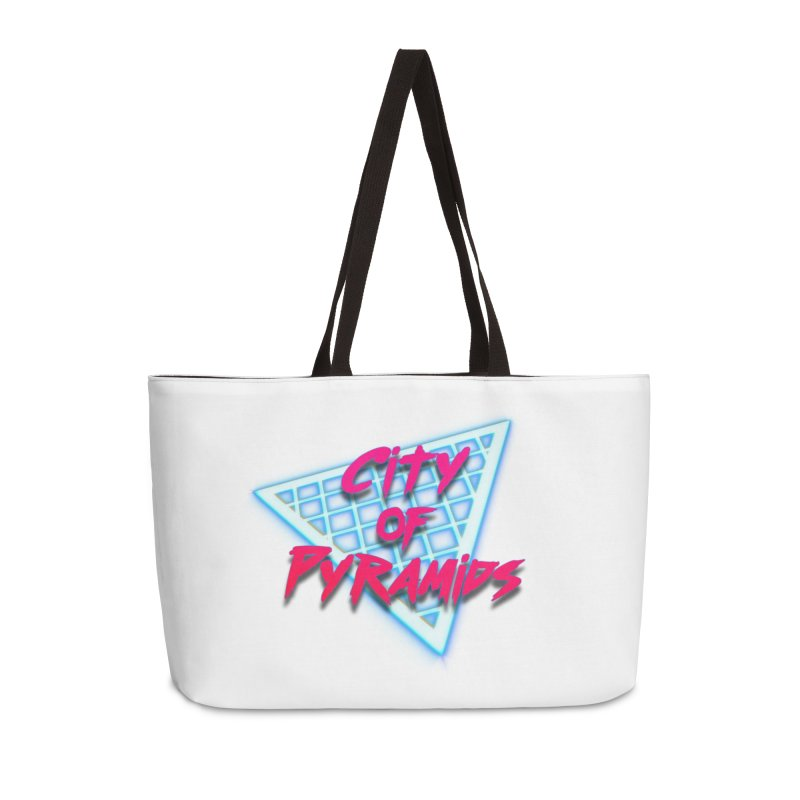 City of Pyramids - Grid Accessories Weekender Bag Bag by City of Pyramids's Artist Shop