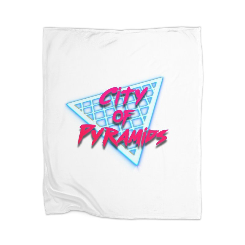 City of Pyramids - Grid Home Blanket by City of Pyramids's Artist Shop
