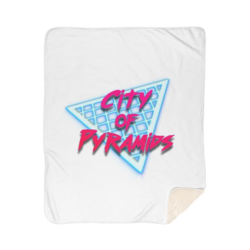 City of Pyramids - Grid Home Sherpa Blanket Blanket by City of Pyramids's Artist Shop