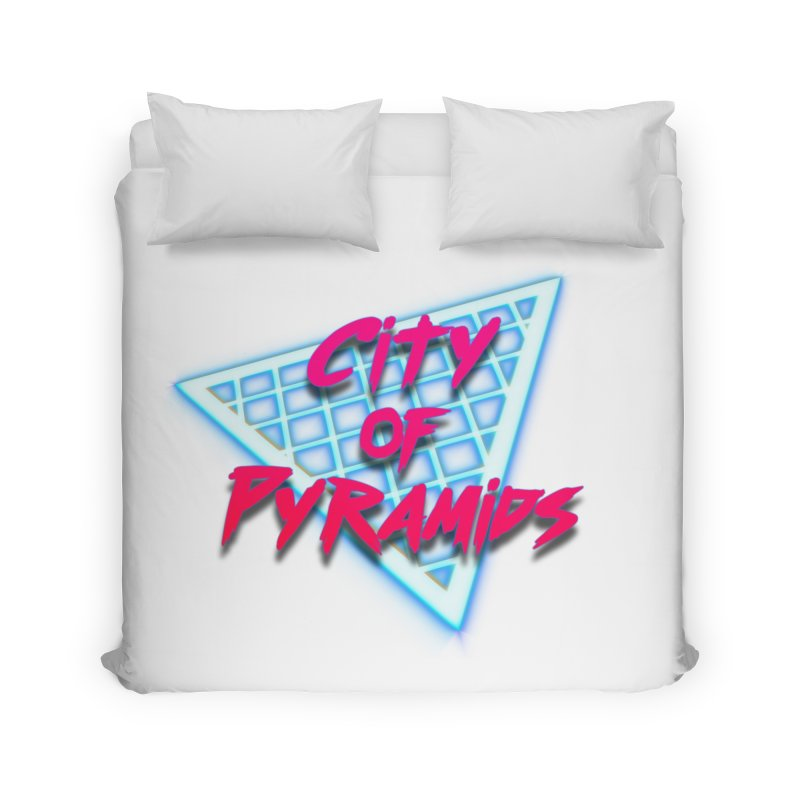 City of Pyramids - Grid Home Duvet by City of Pyramids's Artist Shop