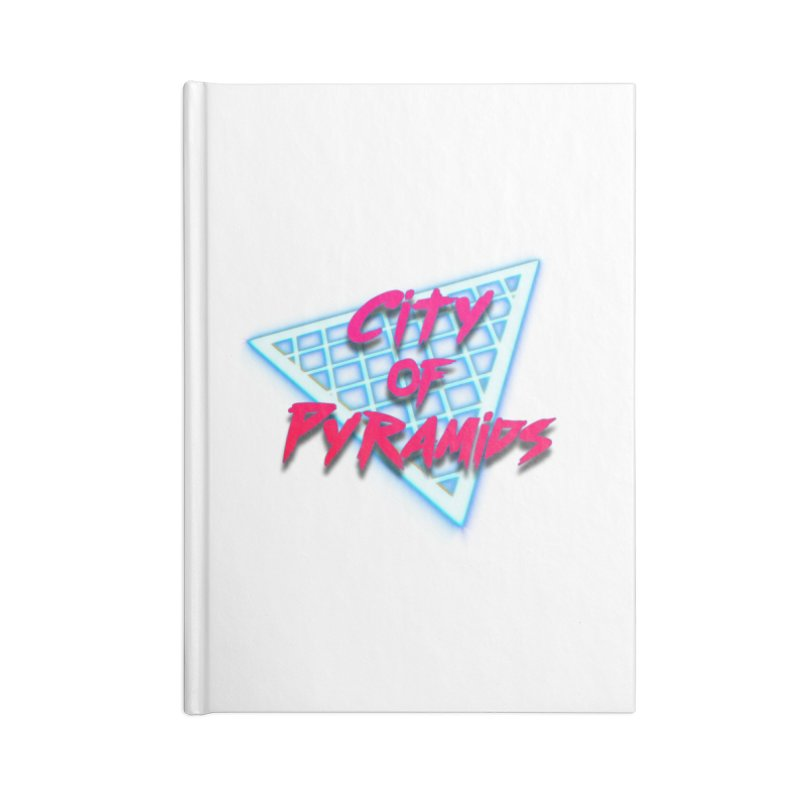 City of Pyramids - Grid Accessories Blank Journal Notebook by City of Pyramids's Artist Shop