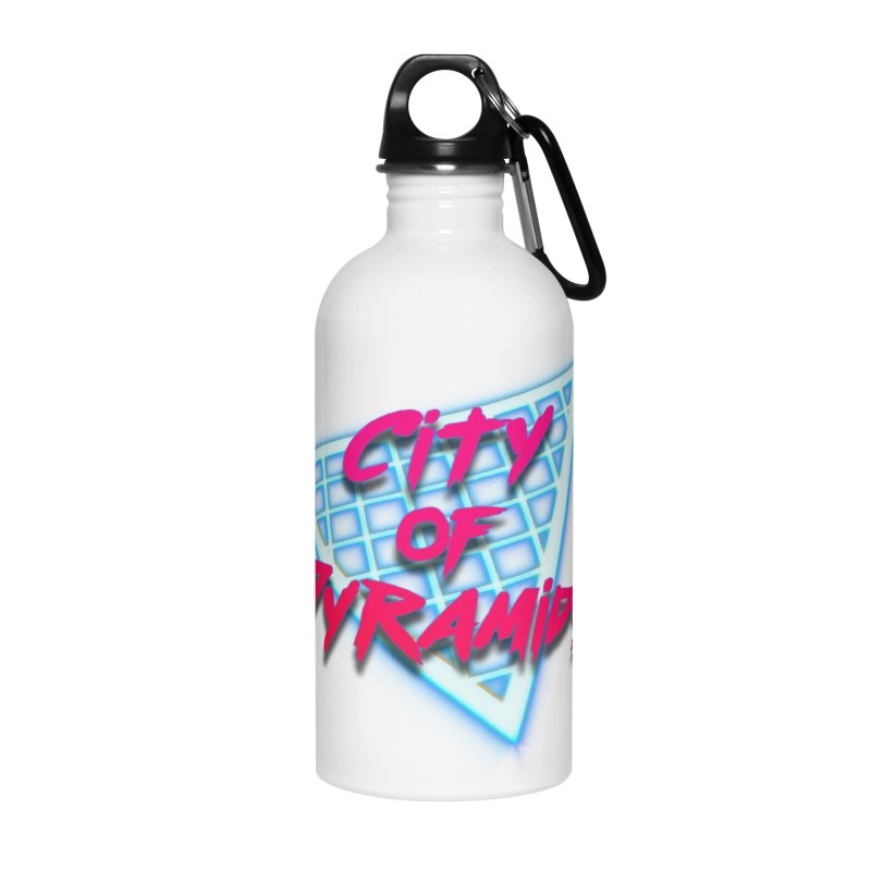City of Pyramids - Grid Accessories Water Bottle by City of Pyramids's Artist Shop