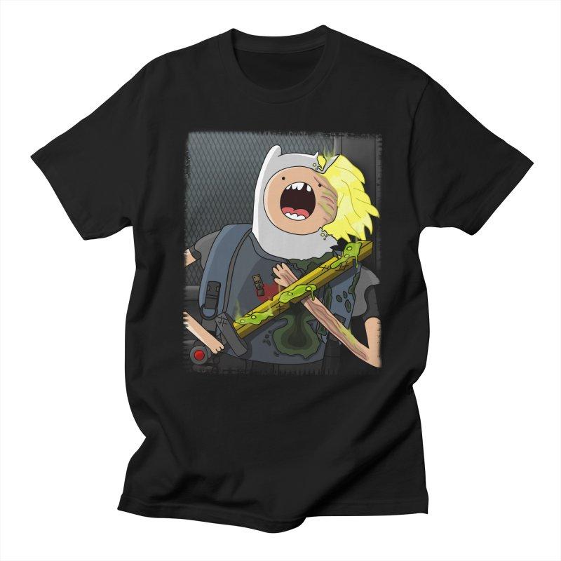 FINN - ALIENS in Men's Regular T-Shirt Black by City of Pyramids's Artist Shop
