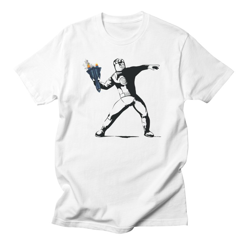 BLACKBIRD THROWER - BANKSY MASHUP in Men's Regular T-Shirt White by City of Pyramids's Artist Shop