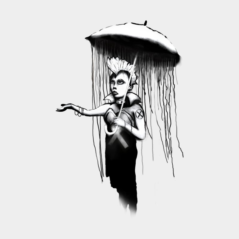 RAINSTORM - BANKSY MASHUP Men's T-Shirt by City of Pyramids's Artist Shop