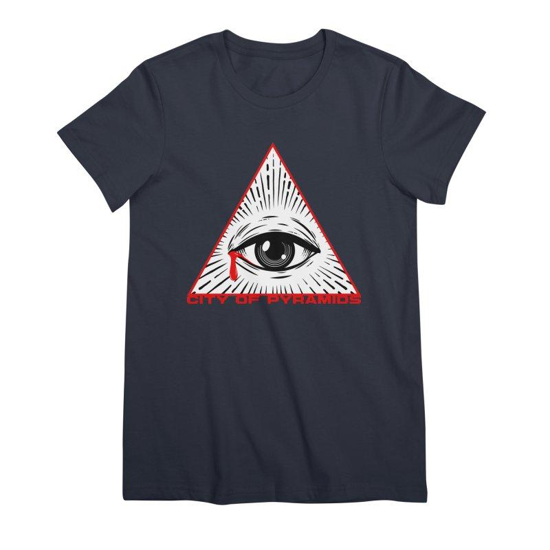 Eyeconic Tears Women's Premium T-Shirt by City of Pyramids's Artist Shop