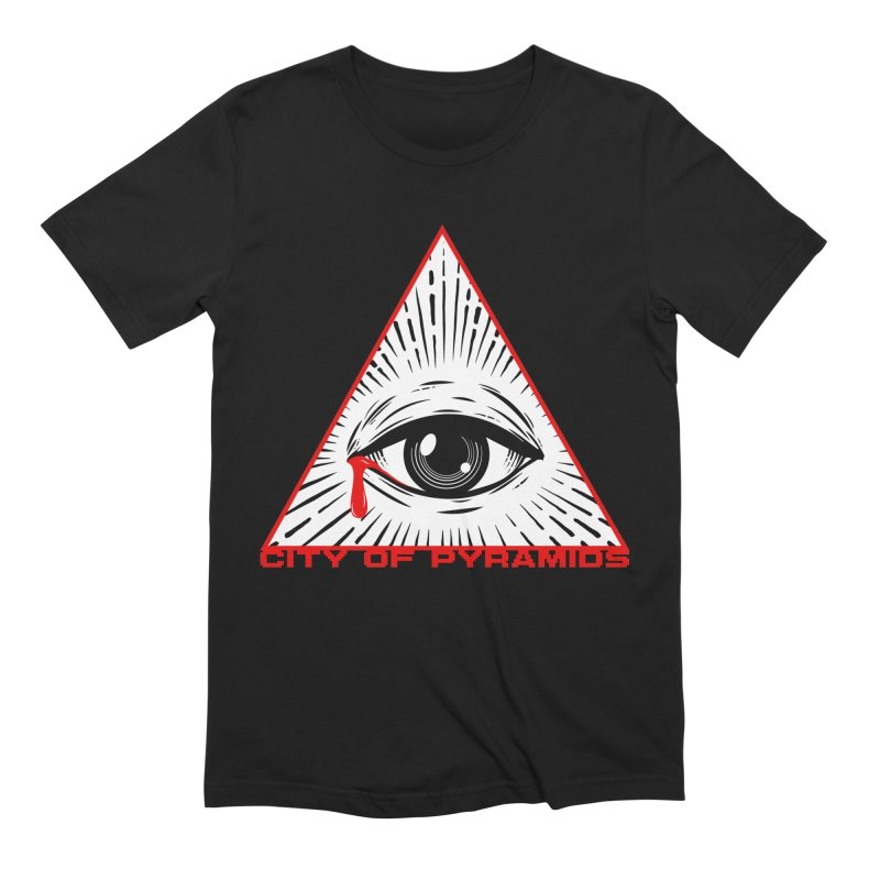 Eyeconic Tears in Men's Extra Soft T-Shirt Black by City of Pyramids's Artist Shop