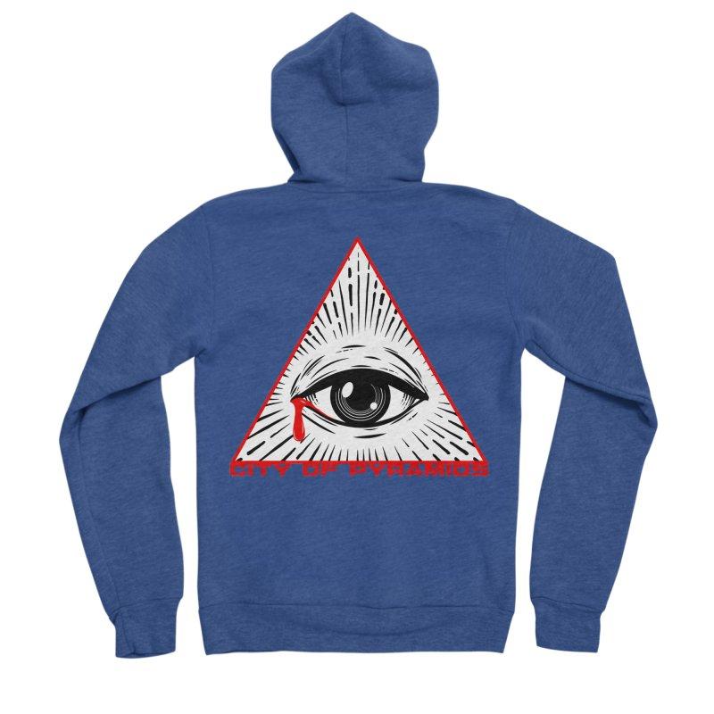 Eyeconic Tears Men's Sponge Fleece Zip-Up Hoody by City of Pyramids's Artist Shop