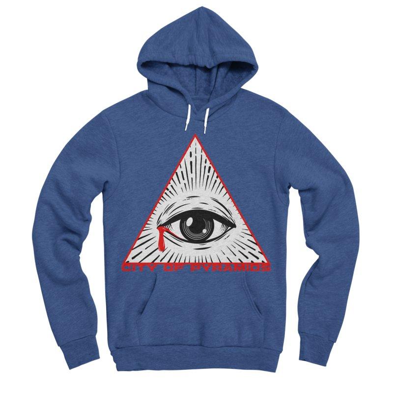 Eyeconic Tears Men's Sponge Fleece Pullover Hoody by City of Pyramids's Artist Shop