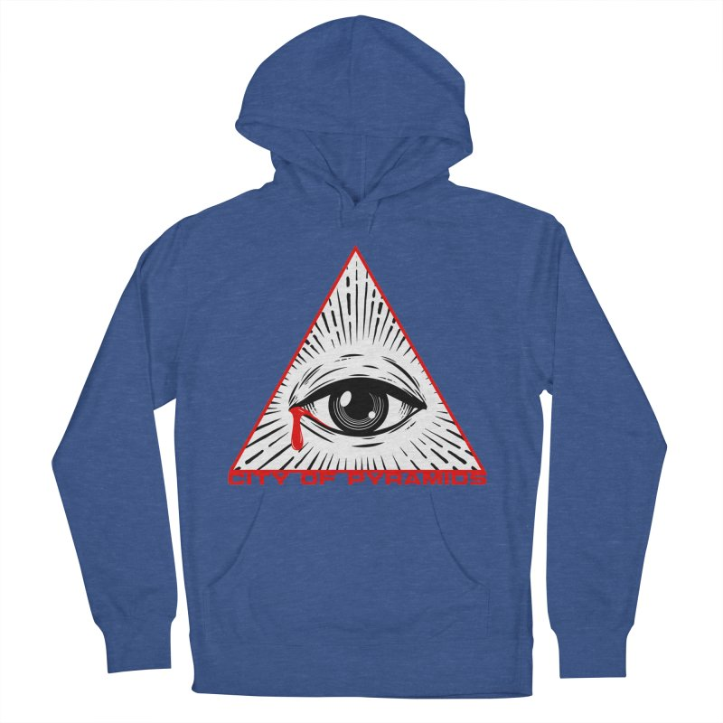 Eyeconic Tears Men's French Terry Pullover Hoody by City of Pyramids's Artist Shop