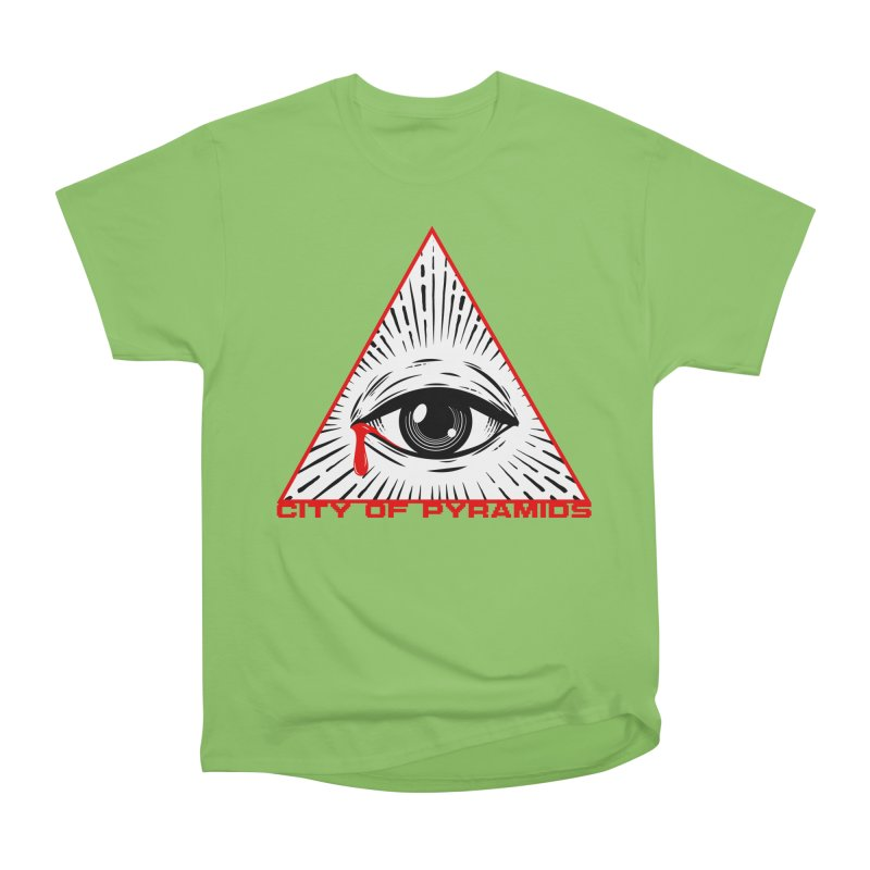 Eyeconic Tears Women's Heavyweight Unisex T-Shirt by City of Pyramids's Artist Shop