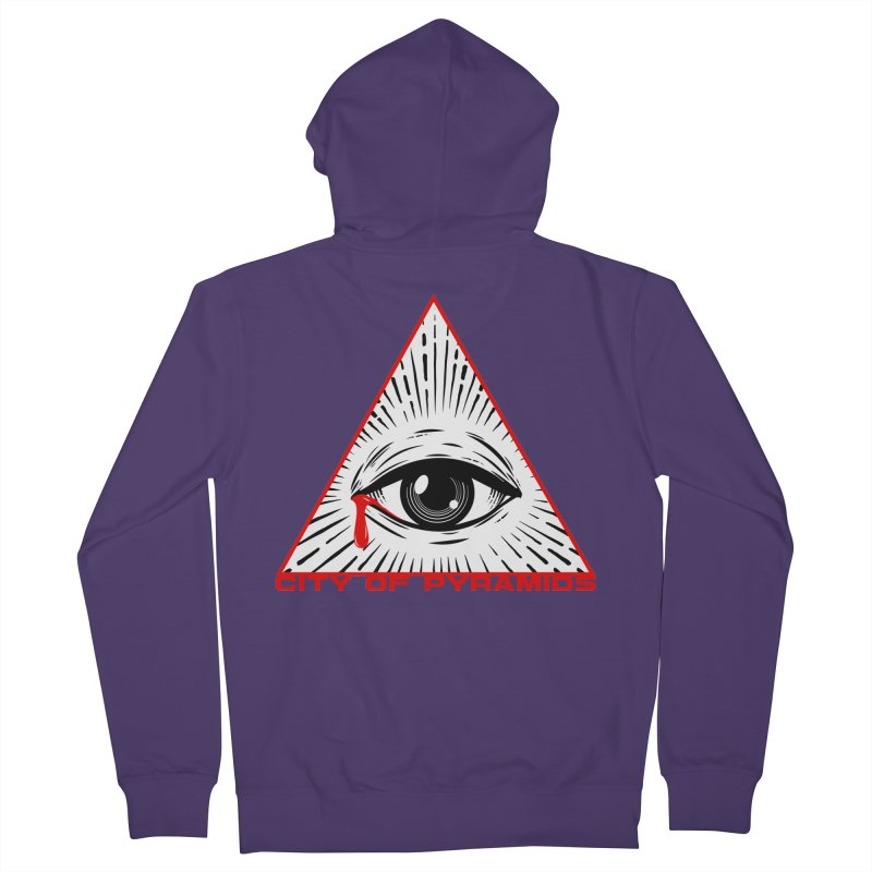 Eyeconic Tears Women's French Terry Zip-Up Hoody by City of Pyramids's Artist Shop