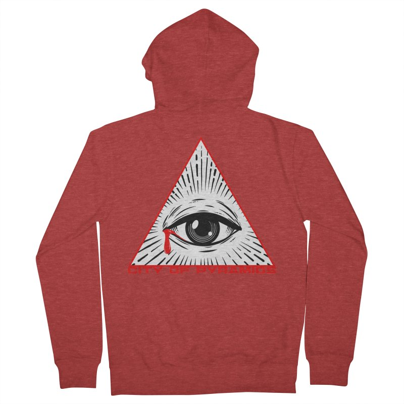Eyeconic Tears Men's French Terry Zip-Up Hoody by City of Pyramids's Artist Shop