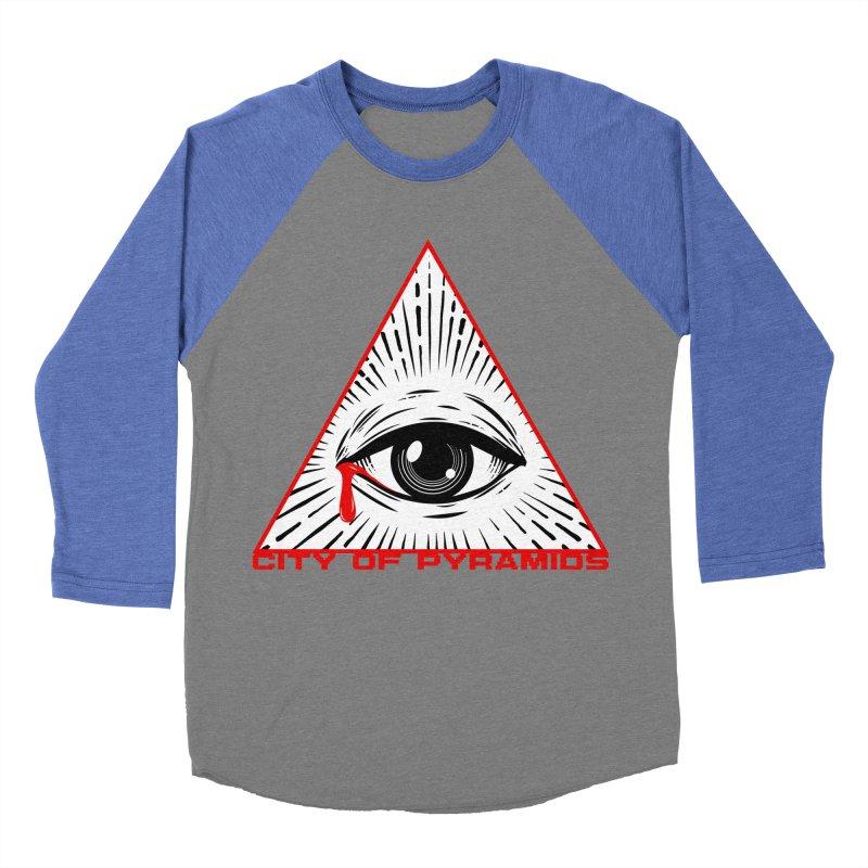 Eyeconic Tears Men's Baseball Triblend Longsleeve T-Shirt by City of Pyramids's Artist Shop