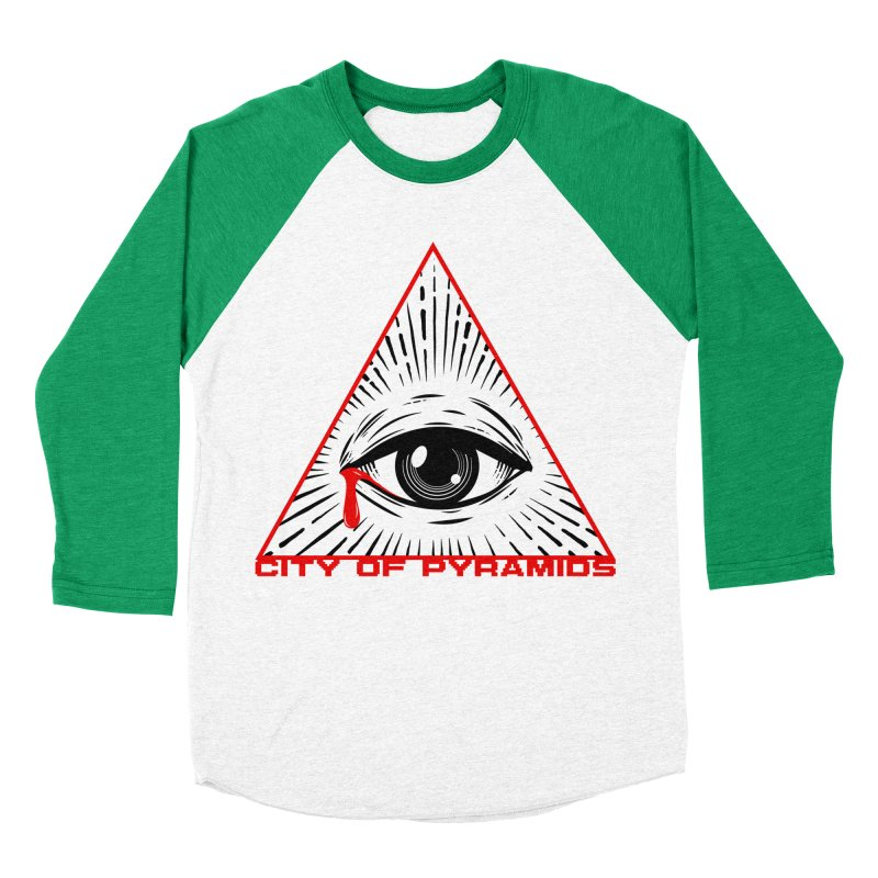 Eyeconic Tears Men's Baseball Triblend Longsleeve T-Shirt by City of Pyramids's Artist Shop