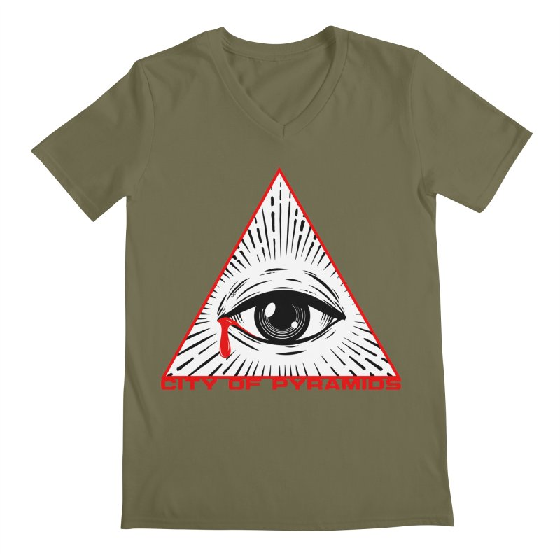 Eyeconic Tears Men's Regular V-Neck by City of Pyramids's Artist Shop