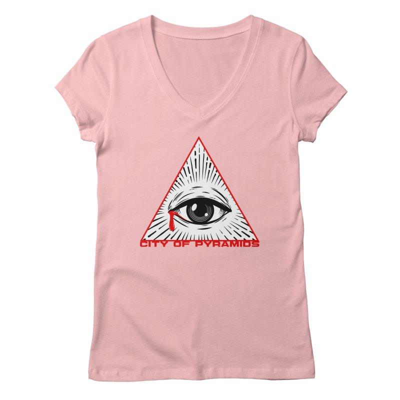 Eyeconic Tears Women's V-Neck by City of Pyramids's Artist Shop