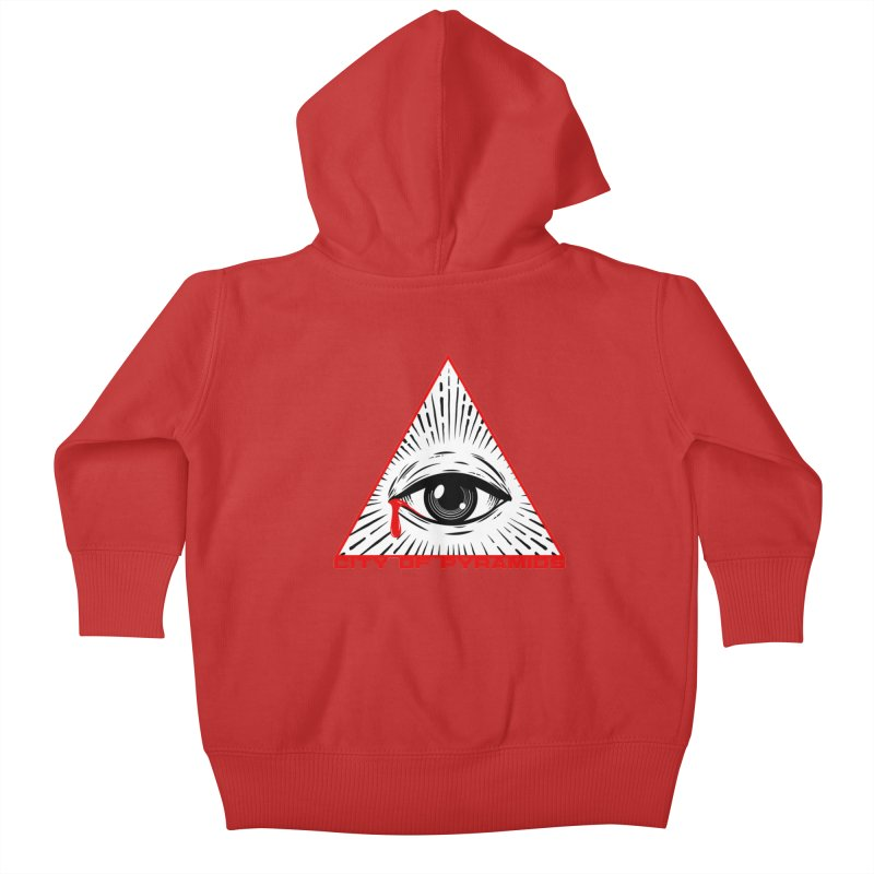 Eyeconic Tears Kids Baby Zip-Up Hoody by City of Pyramids's Artist Shop