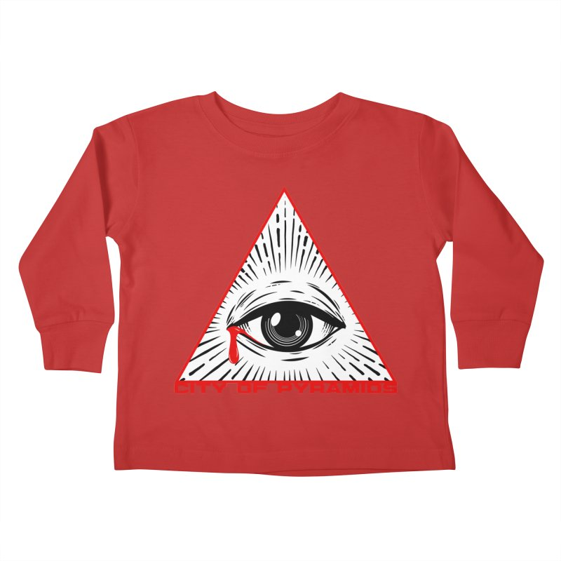 Eyeconic Tears Kids Toddler Longsleeve T-Shirt by City of Pyramids's Artist Shop