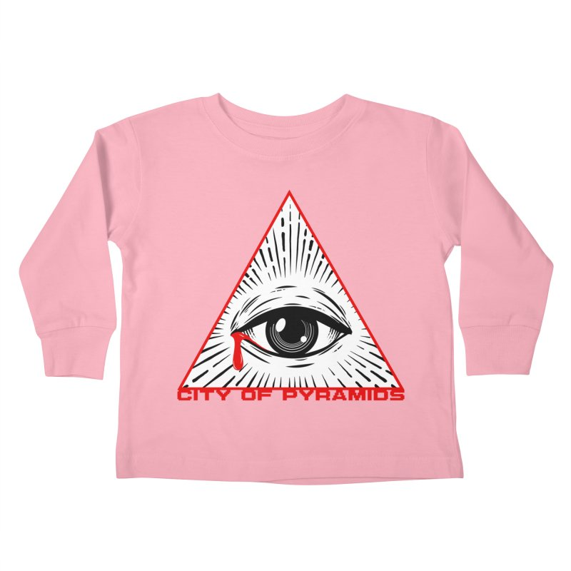 Eyeconic Tears Kids Toddler Longsleeve T-Shirt by City of Pyramids's Artist Shop