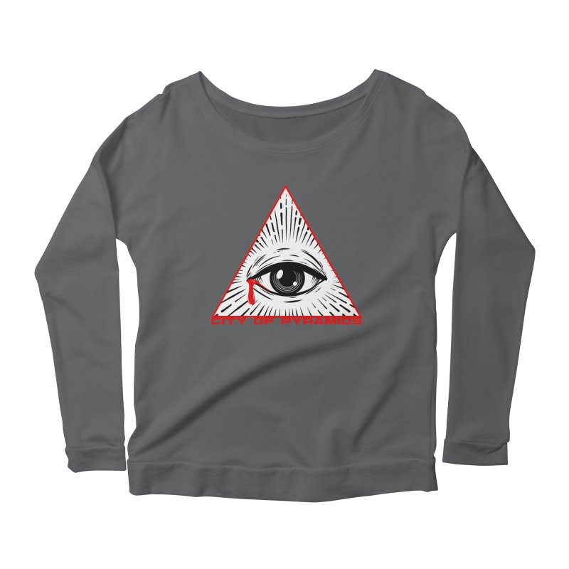 Eyeconic Tears Women's Scoop Neck Longsleeve T-Shirt by City of Pyramids's Artist Shop