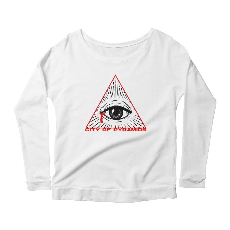 Eyeconic Tears Women's Scoop Neck Longsleeve T-Shirt by City of Pyramids's Artist Shop