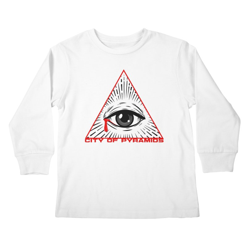 Eyeconic Tears Kids Longsleeve T-Shirt by City of Pyramids's Artist Shop