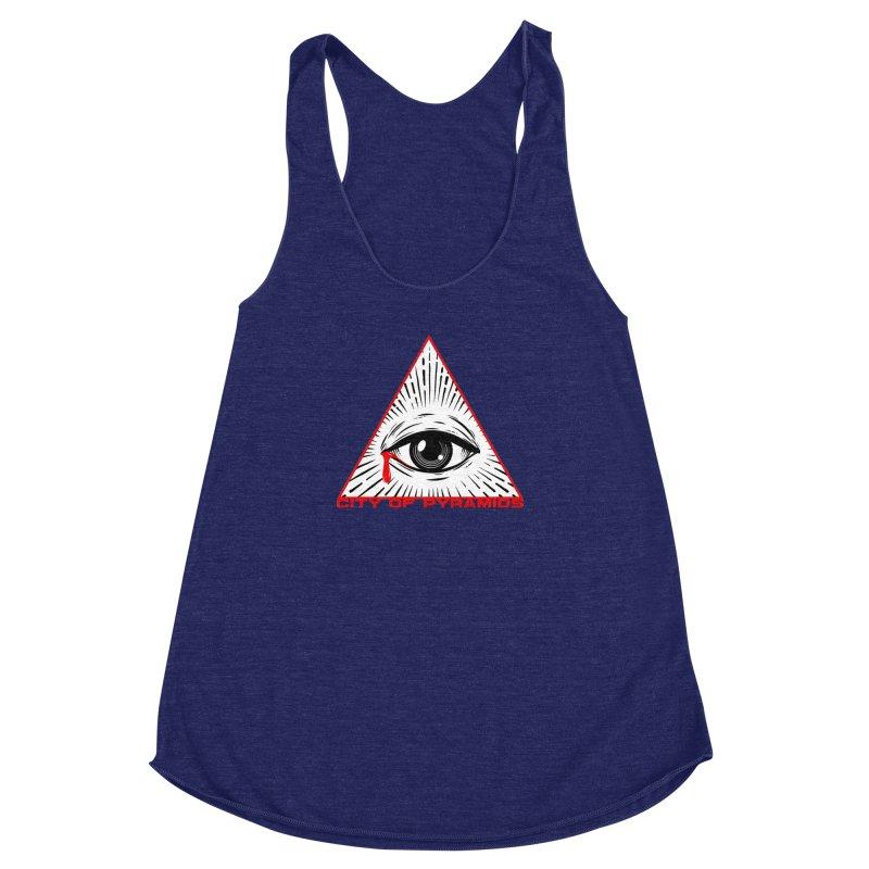 Eyeconic Tears Women's Racerback Triblend Tank by City of Pyramids's Artist Shop