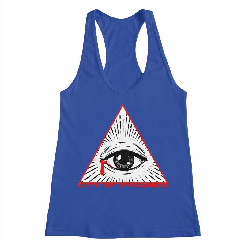 Eyeconic Tears Women's Racerback Tank by City of Pyramids's Artist Shop