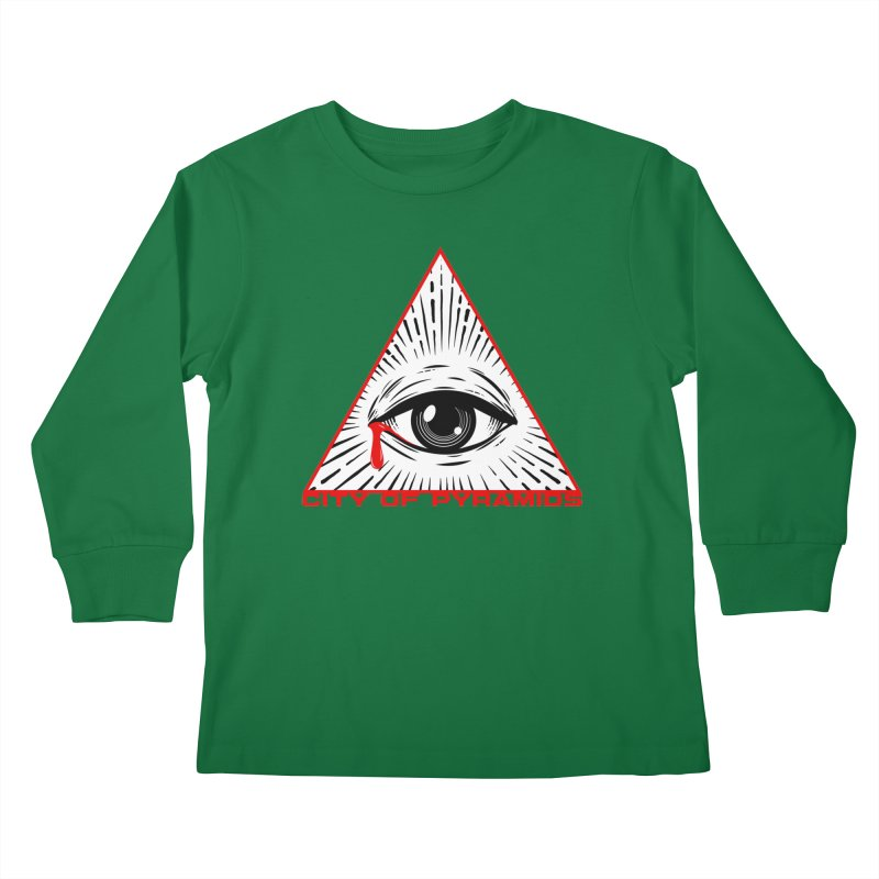 Eyeconic Tears Kids Longsleeve T-Shirt by City of Pyramids's Artist Shop