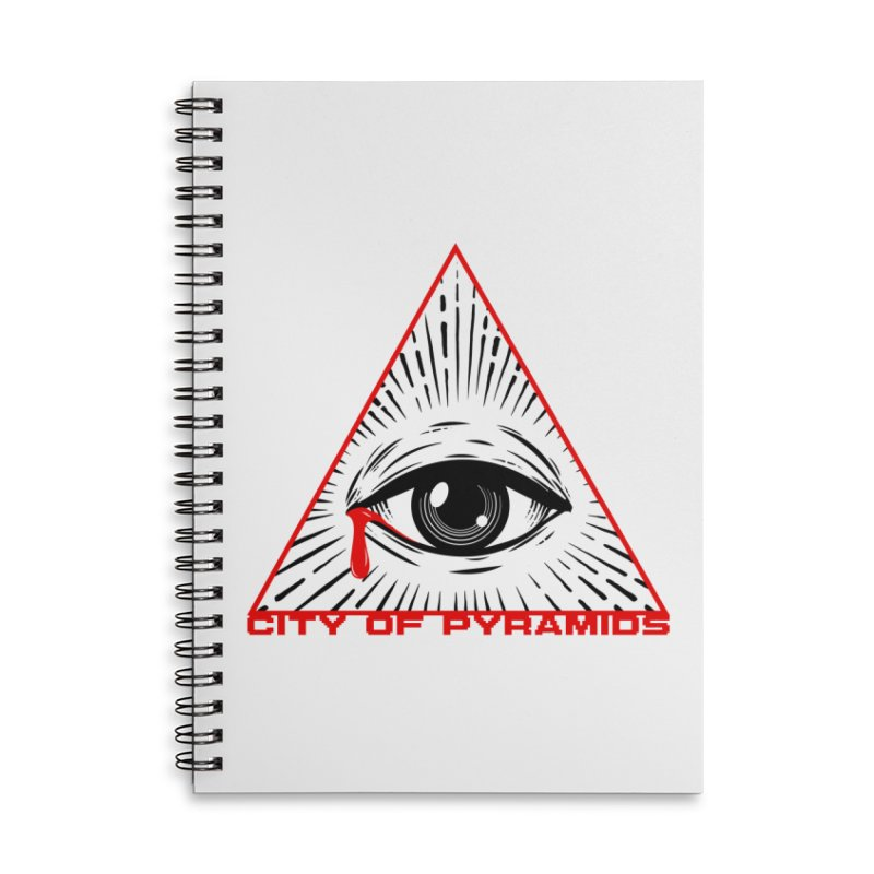 Eyeconic Tears Accessories Lined Spiral Notebook by City of Pyramids's Artist Shop