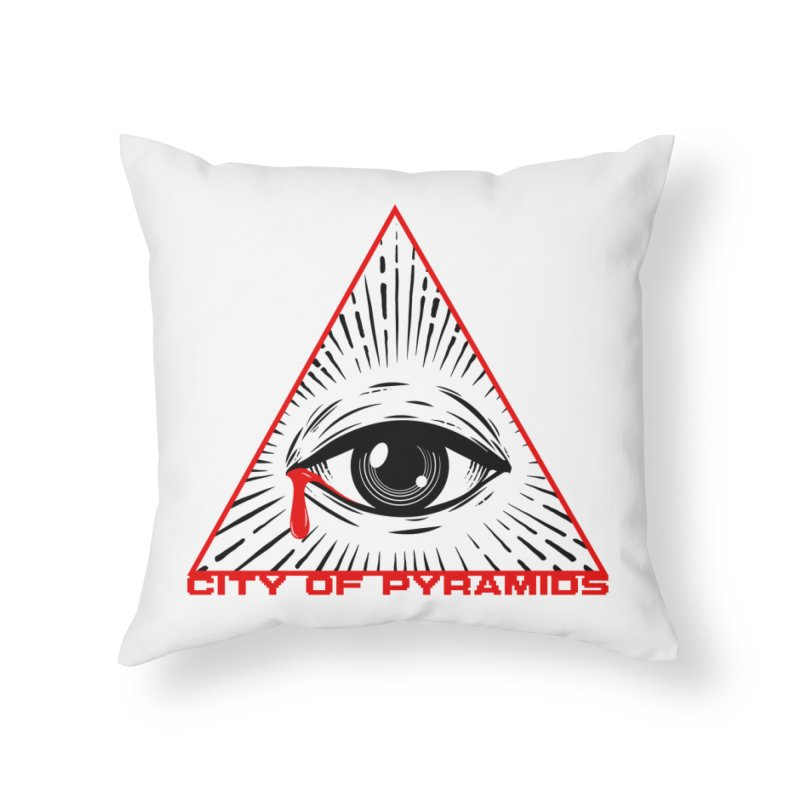 Eyeconic Tears Home Throw Pillow by City of Pyramids's Artist Shop
