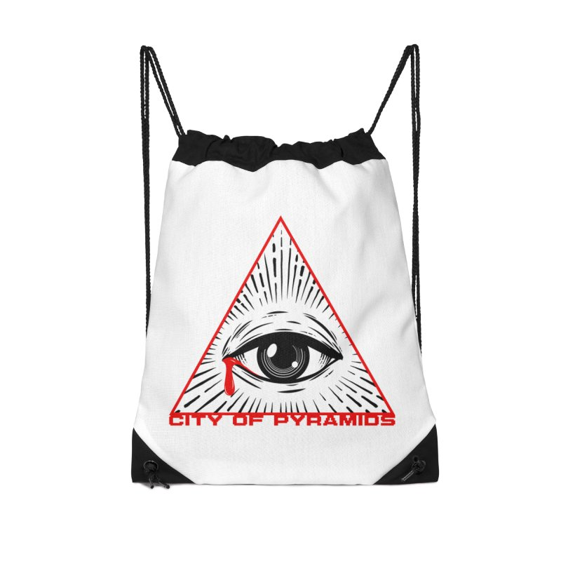 Eyeconic Tears Accessories Drawstring Bag Bag by City of Pyramids's Artist Shop