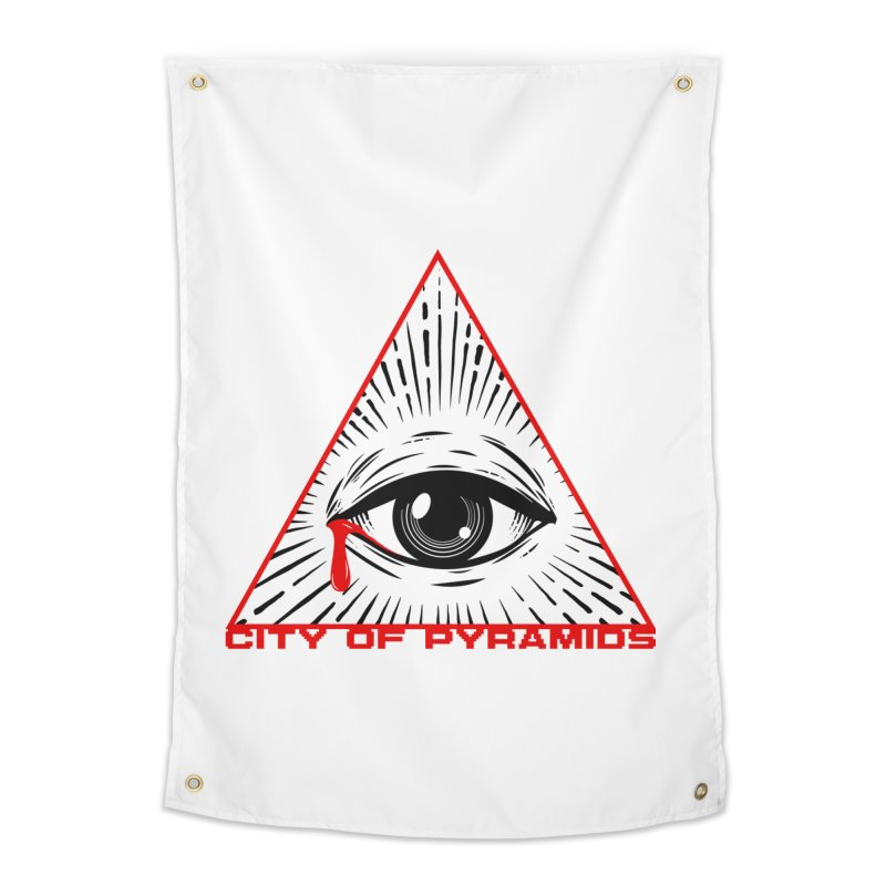 Eyeconic Tears Home Tapestry by City of Pyramids's Artist Shop