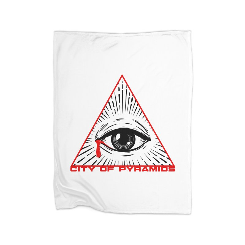 Eyeconic Tears Home Fleece Blanket Blanket by City of Pyramids's Artist Shop