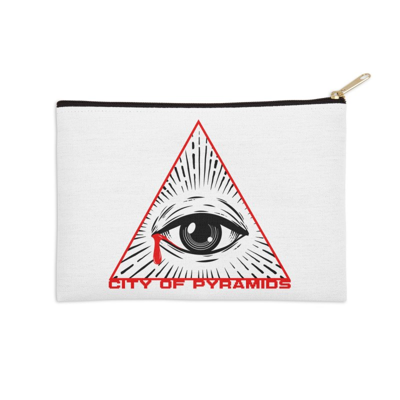 Eyeconic Tears Accessories Zip Pouch by City of Pyramids's Artist Shop