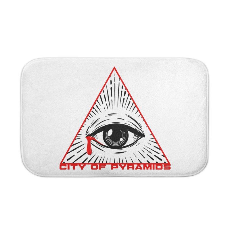 Eyeconic Tears Home Bath Mat by City of Pyramids's Artist Shop