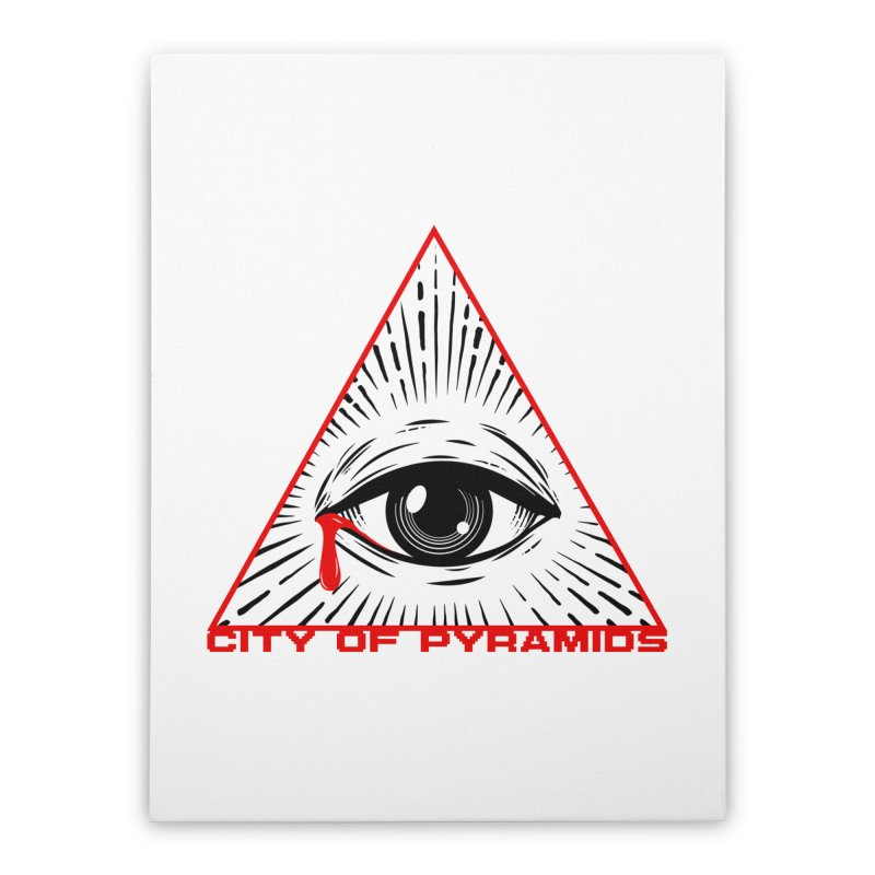 Eyeconic Tears Home Stretched Canvas by City of Pyramids's Artist Shop
